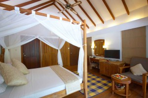 Medhufushi Beach Villa bedroom