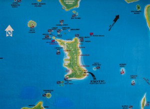 Malapascua dive sites map