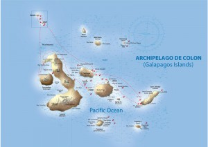 Galapagos Sky itinerary map