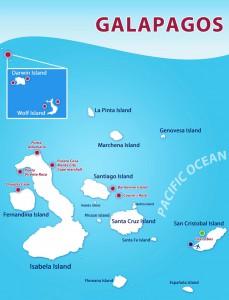 Galapagos Master itinerary map