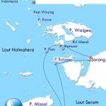 Indo Siren Raja Ampat itinerary map