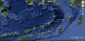 Forgotten Islands itineraries map