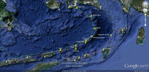 Forgotten Islands itineraries map