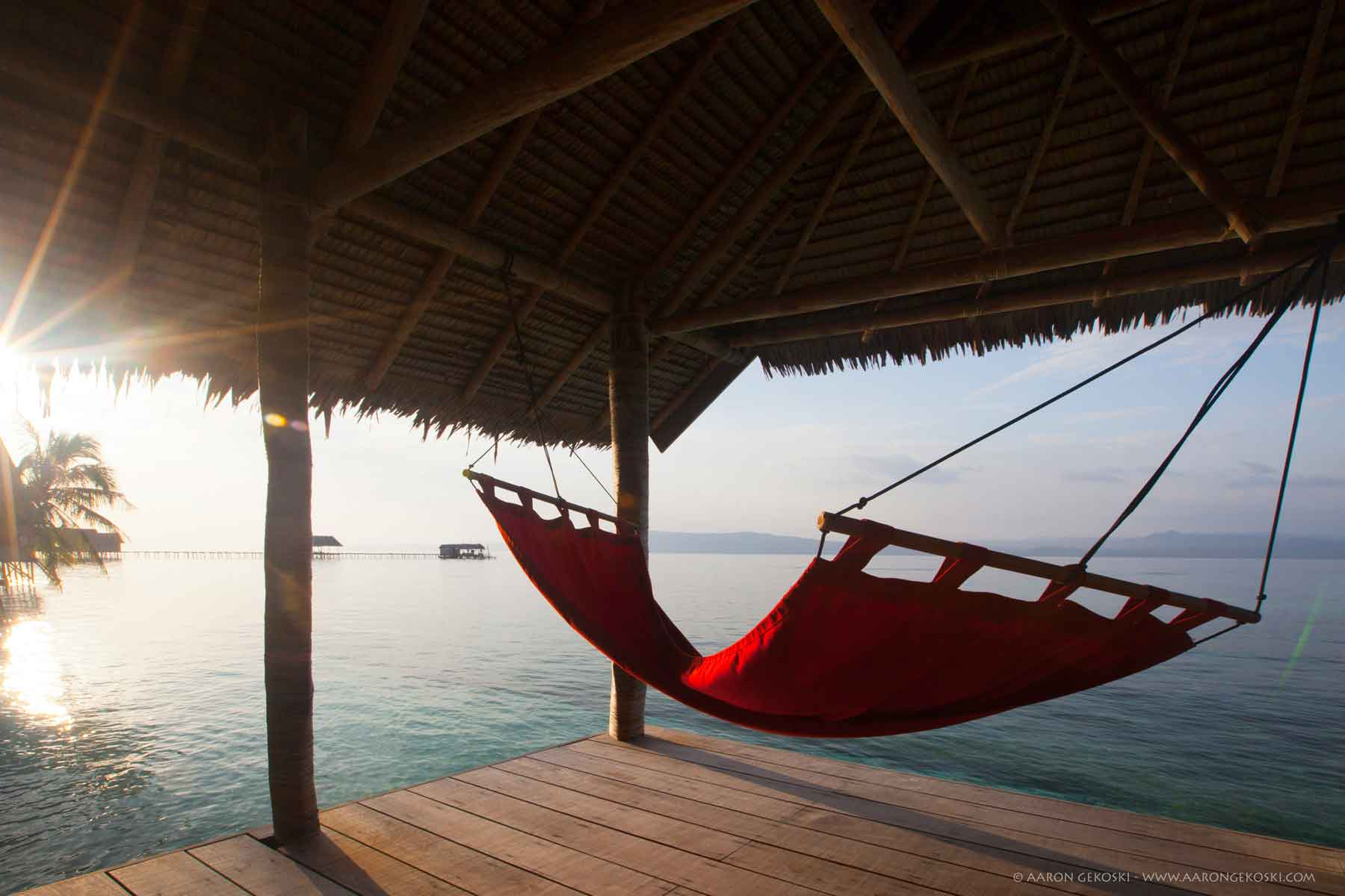 Kri eco resort in raja ampat indonesia scuba diving for Balcony hammock