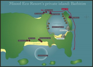 Misool Resort map