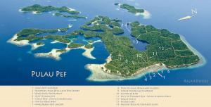 Pulau Pef map