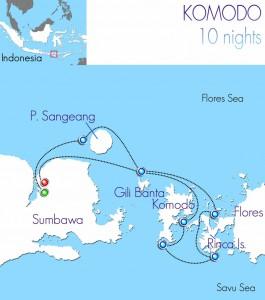 Indo Siren Komodo itinerary map
