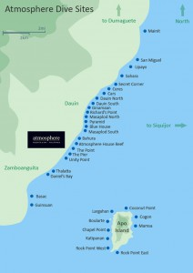 Atmosphere Resort dive sites map