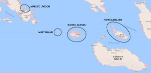 Solomon Islands dive map (Equator Diving/Google Maps)