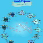 French Polynesia diving calender