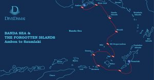 Damai II Banda Sea & Forgotten Islands itinerary map