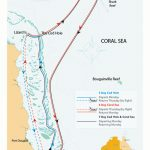 Cod Hole, Ribbon Reefs and Coral Sea map
