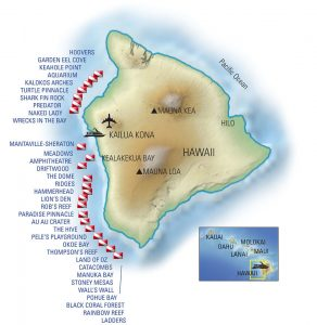 Kona Aggressor II itinerary map