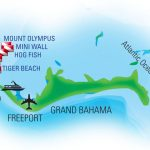 Grand Bahama West End with Tiger Beach map