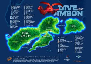 Dive into Ambon dive sites map