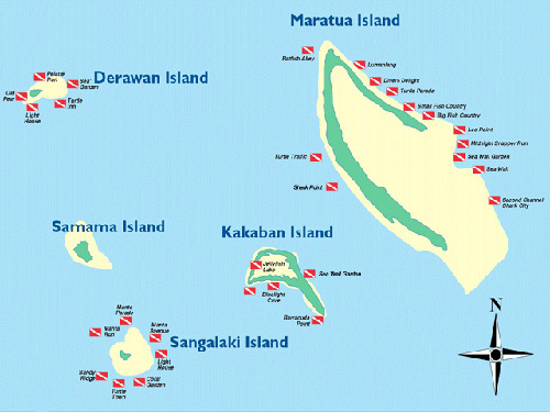 Sangalaki-Maratua-Kakaban map