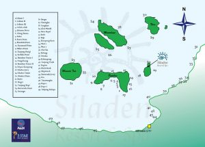 Siladen Resort dive sites map